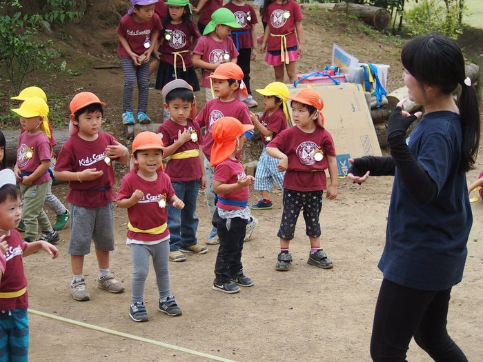 運動会練習 英語幼稚園 つくば