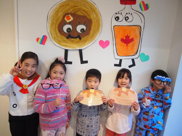 pancake パンケーキパジャマパーティー つくば 英語幼稚園